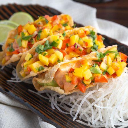 Mini Sashimi Tacos